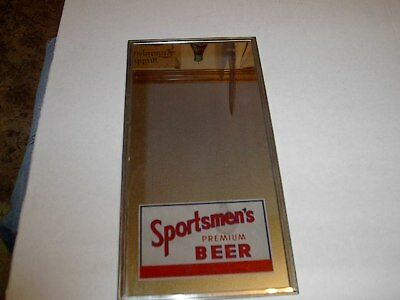 VINTAGE Sportsmens Beer Mirror Mound City Brewing Co New Athens IL ILL. ILLINOIS