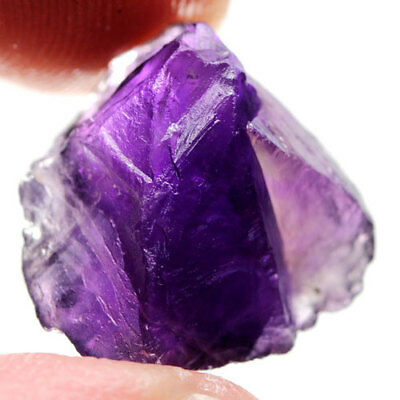 12.25Ct.magnificent! Rough Dark Purple Natural Amethyst Brazil Free Shipp!