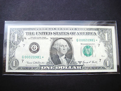 $1 1969 D***STAR***FEDERAL RESERVE NOTE CHOICE UNC NOTE LOW#ooo2o981