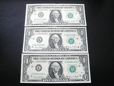(3) 1969 D Dallas Federal Reserve Choice Unc Note