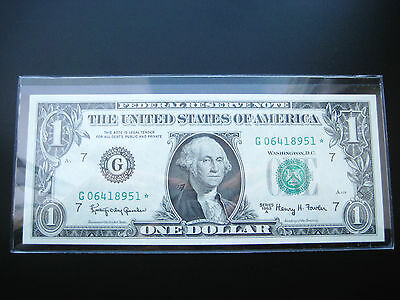 $1 1963 A Chicago***star***federal Reserve Note Choice Unc Bu Note