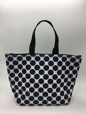 Defect Thirty one Thermal Picnic lunch Tote storage Bag Black spotty dot 31 e