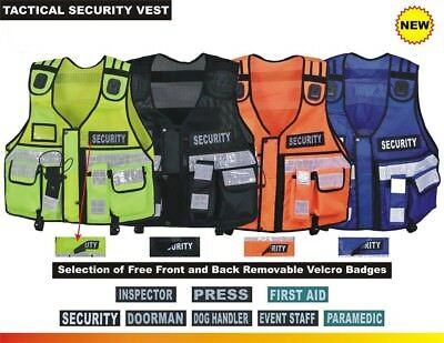 Tactical Vest Security, Enforcement, CCTV, Dog Handler, High Visibility