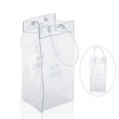 Transparent Foldable Wine Bucket Bag Beer Champagne Cooler Chiller for Ice Bag