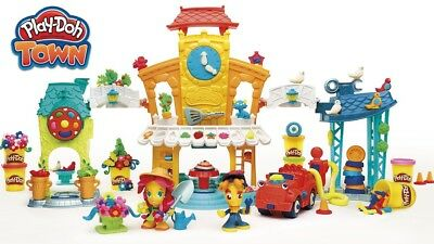 Play-Doh Town 3 in 1 Centre Set - 8 Cans of Dough + Figures Cars Stamps & More!