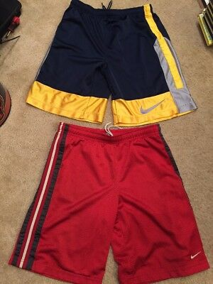 2 Pairs / Pair Of Nike Boy's Basketball Athletic Shorts M 10-12. Free Shipping