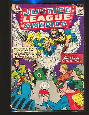 Justice League of America # 21 - Crisis on Earth-One Poor Cond.