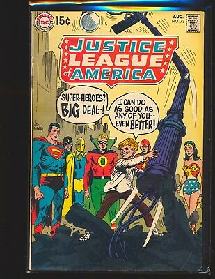 Justice League of America # 73 - 1st SA appearance of GA Superman VG/Fine Cond.