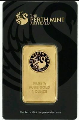 1 Oz Perth Mint Gold Bar .9999 Fine with Assay (1 Ounce Sealed)