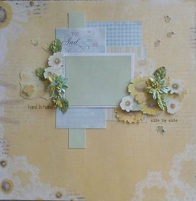 handmade premade scrapbook page layout 12 X 12 -  Everyday Occasion