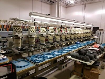 1994 15 head Barudan Embroidery Machine model BEMSME YN 15T