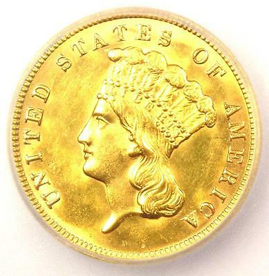 1888 Three Dollar Indian Gold Coin $3 - ICG MS60 Details (UNC BU) - Rare Date!