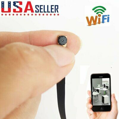 Wireless Network WIFI IP HD DIY mini spy hidden Pinhole camera DVR recorder USA