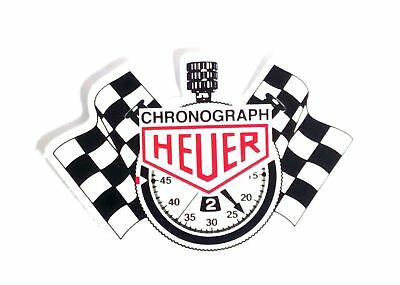 Tag HEUER Chronograph Sticker Logo Racing Monaco Turbo Car Decal JDM Decal Bumpe
