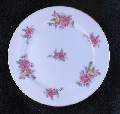 Narumi China - Occupied Japan - Rose Pattern 6.5 Inch Round Plate Saucer B