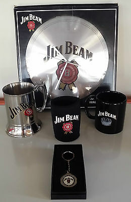 Jim Beam Genuine Items Barware Hamper  Clock Stein Mug Stubby Holder Keyring