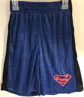 Superman Boys S 6 / 7 Shorts - Blue - Logo Waistband
