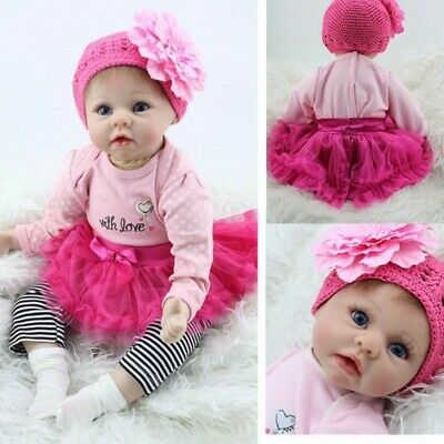 Beautiful Lifelike Newborn Baby Realistic Vinyl Reborn Girl Doll Floppy Head