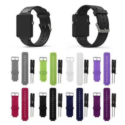 Silicone Wristband Bracelet Band Replacement For Garmin Vivoactive Acetate Watch