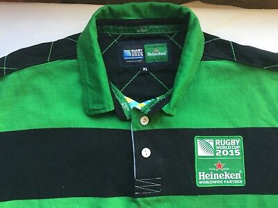 Heineken Rugby World Cup 2015 adult shirt. Size XL. Short sleeves.