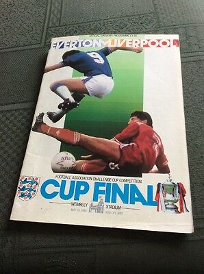 1986 FA Cup Final Programme, Everton v Liverpool, signed by officials