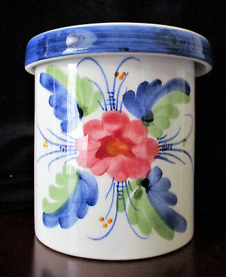 Pretty Jar with Oversized Lid  10cm or 4 inches High.  Excellent Cond  *UNUSUAL*