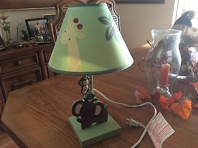 NoJo Jungle Babies Lamp and Shade GREAT DEAL