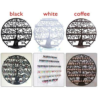 5 Tier Tree Art Nail Polish Display Holder Rack Storage Metal Wall Mounted Shelf