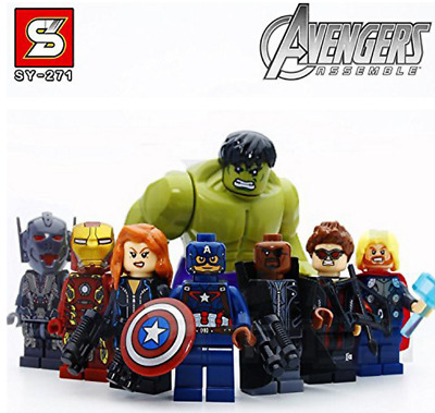Lego Los Vengadores Pack Compatible Con Lego Marvel The Avengers Hulk Iron Man