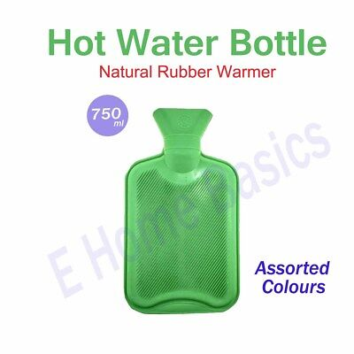 New 750Ml Small Hot Water Natural Rubber Bottle Relaxing Heat Warmer Therapy