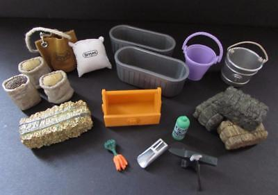 Breyer and Schleich Accessories for Horses Feed Bags Grain Scoop Hay Bucket etc.