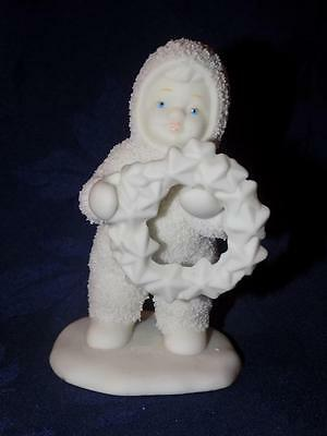 """Vintage """"Snowbabies"""" ~ """"Baby Holding a Wreath"""" by Department 56"""