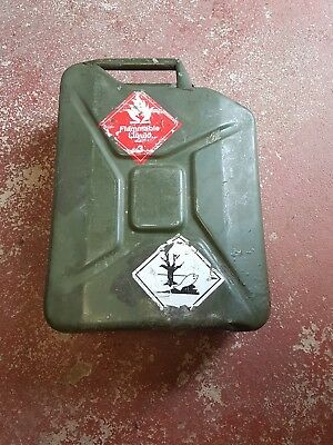 Metal Fuel Jerry Can Diesel Petrol Oil 20 Litre Green Military