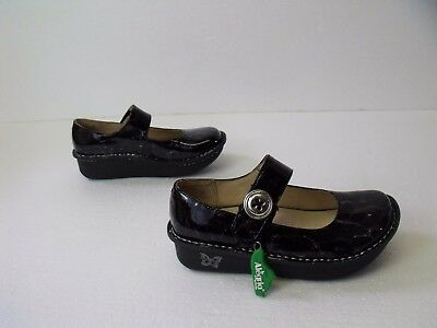 Alegria Pal-411 34 Mary Jane Tortoise PG Lite 4.5-5 Patent Leather NWT Paloma