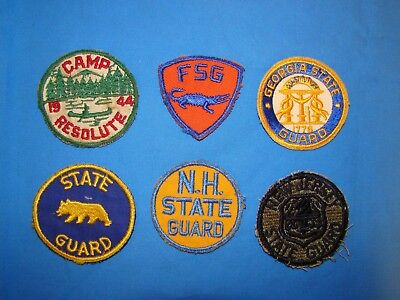 Nice WWII State Guard Patch Lot (7)