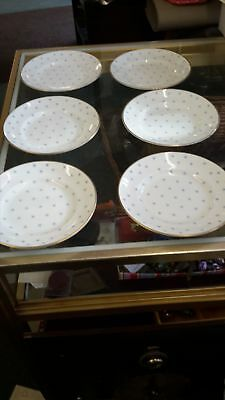 "Set of 6 Susie Cooper Side /Bread /Tea 6"" Plates Made in England"