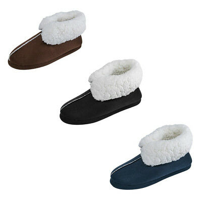 SITAILE Mens Winter Home Indoor High Slippers Boots House Plush Warm Cozy Shoes