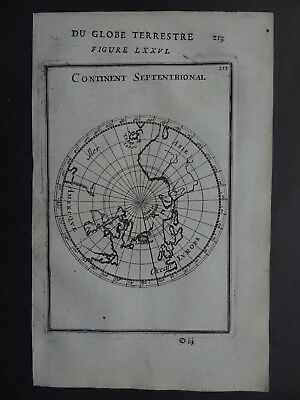 1683 MALLET  Atlas map  NORTH POLE - Continent Septentrionale