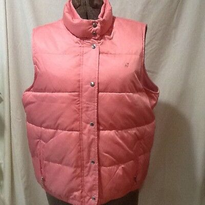 OLD NAVY Satin Pink Full Zip & Snap Fleece Lined Puffer Vest w/Pockets~ Size XL