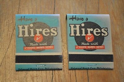 Rare Hires Rootbeer Matches Matchbook,vintage,2 Packs, Advertising Collectible