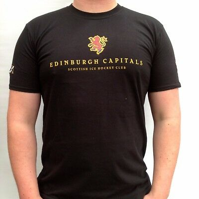 Official Edinburgh Capitals Black T-shirt Tee