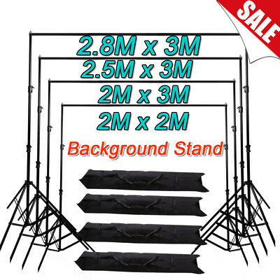 Photography Studio Background 2X2m/2x3m/2.5X3m/2.8X3m Backdrop Support Stand Kit