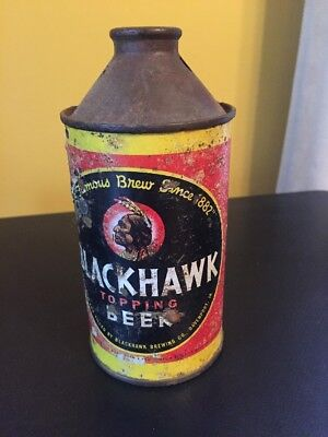 Vintage Offgrade Blackhawk Topping Beer Cone Top Beer Can Davenport Iowa IA