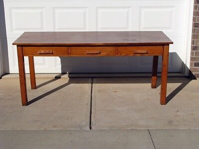 Antique Tailor Table w/ Engraved Tape Measure on Both Sides - Study, Solid Wood
