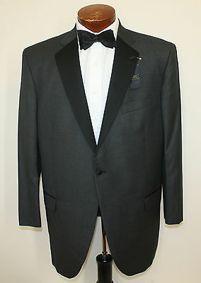Brooks Brothers New Custom Tailor 2 Pc Tuxedo Grey Nailhead One Button 48R 43-U