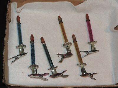 Antique Christmas Tree Candle Clip On Branch  (h758)