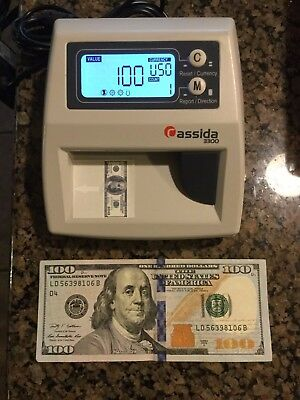 Cassida 3300 Counterfeit Currency Fake Dollar Bill Detector