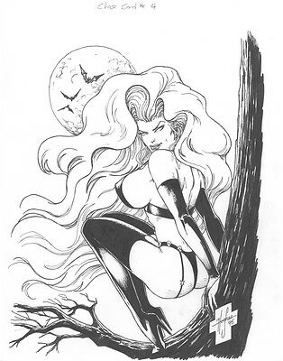 Lady Death By Steven Hughes Original  Chase Card #4
