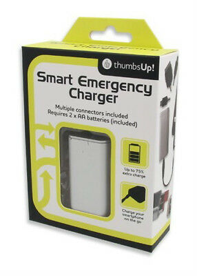 Mini USB Smart Emergency Charger - with Micro USB, Apple 30 Pin FREE POSTAGE NEW