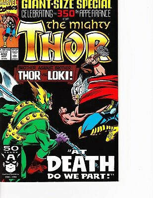 Thor #432 Giant Sized Anniversary Issue vs Loki FREE SHIPPING AVAILABLE!